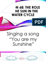 ROLE OF THE SUN POWERPOINT