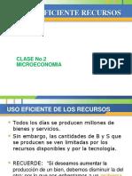 CLASE No. 2 Uso Eficiente Recursos