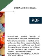 Curs Nr. 3 Farmacodinamia