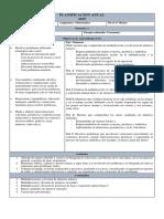 Planificación Anual Octavo Matemática 2019