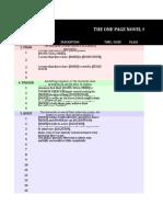 The One Page Novel Scene Spreadsheet