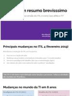ITIL 4 - Resumo de mudanças