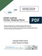 Social Engineering Manipulating Source 32914