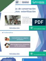 Esterilización en alimentos