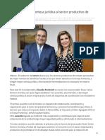 16-05-2019 Impulsan mayor certeza jurídica al sector productivo de Sonora-SDP Noticias