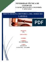 Reseña Hitorica Del Derecho Laboral