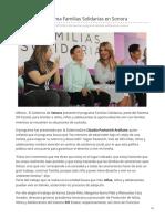 15-05-2019 Presentan Programa Familias Solidarias en Sonora-SDP Noticias