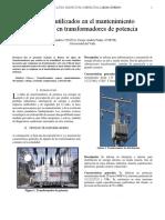 Sensores Utilizados en El Mantenimiento Preventivo en Transformadores de Potencia