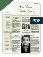 Newsletter Volume 10 Issue 18