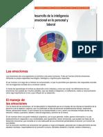 Desarrollo de La Intelegencia Emocional en Lo Personal y Laboral