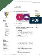 Mundo Java_ Ejemplos y Ejercicios Sobre if-else en Java