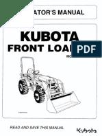 LA 434 Kubota Front Loader Operator's Manual pdf | Loader