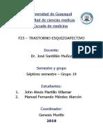 Psiquiatria - Trastorno Esquizoafectivo - Grupo 19