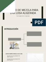 Diseño de Mezcla Para Una Losa Aligerada