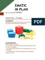 mathematic lesson plan pdf