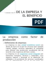 Teoría de La Empresa y El Beneficio