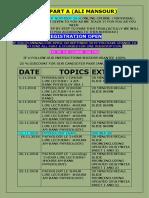 Mrcs Part a Schedule