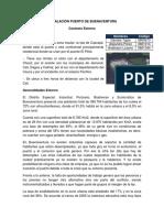 ACTIVIDAD INSTALACIÓN PUERTO DE BUENAVENTURA