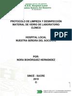 Protocolo de Limpieza y Desinfección Material de Vidrio de Laboratorio Clínico