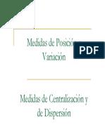 Medidas de Tendencia Central Posici n y Dispersi n