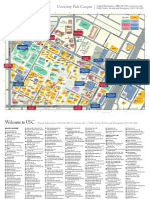 USC University Place Campus Map | University Of Southern ...