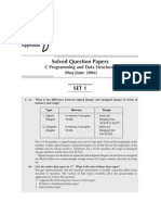 C & DS Solved question paper