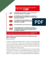 Diferencias en El Reconocimiento de Ingresos Entre NIIF y US GAAP