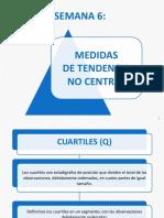 Semana 6 - MEDIDAS DE TENDENCIA NO CENTRAL - QUARTIL- PERCENTIL - Varianza - Desviación Estándar.pdf
