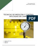 Técnicas y elementos de medición y control