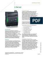 Automation Server Specification Sheet - SmartStruxure Solution