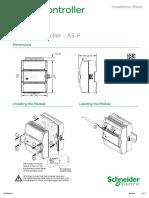 SmartX Controller as-P - SmartStruxure Solution - Installation Sheet