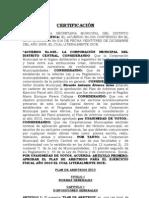 Plan de Arbitrios AMDC 2010 - Honduras