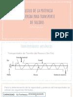Calculo de La Potencia Para Transporte de Solidos 2.1 (1)