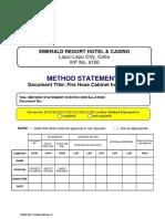 FHC Installation Method Statement