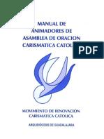 Manual de Animadores de Asamblea de Oracion Carismatica Catolica, Rcc Guadalajara