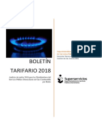 Boletin tarifario gas colombia 2018