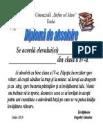 140834325 Diploma de Absolvire Cl a IV A