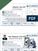 Jasa Service Dan Kalibrasi Alat Survey Pemetaan 085223249203 Rizky Muhammad Faisal