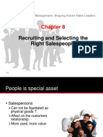 Chapter_08 (Recruiting Selecting Salespeople