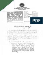 COMELEC RESOLUTION 10511