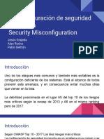 A5 Security Misconfiguration Exposición