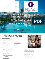 Costa Pasifica Bar and Service Training