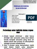 Kelompok 2 Farmakoterapi-Perbedaan Antar Individu Dalam Respon Obat_Rev.ppt