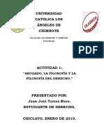 Actividad Nº 1 Filosofía Del Derecho ULADECH.