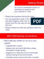 Matlab Training - Basic Matlab