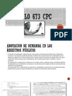 Articulo 673 Cpc
