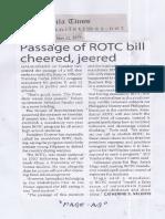Manila Times, May 22, 2019, Passage of ROTC bill cheered, jeered.pdf
