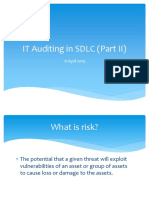 IT Auditing in SDLC Part II
