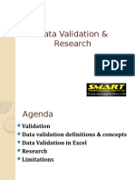 Data Validation & Research