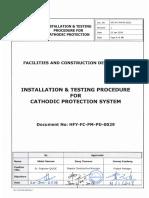 29 HFY-FC-PM-PD-0029_Cathodic Protection System Installation Procedure Rev 1.pdf